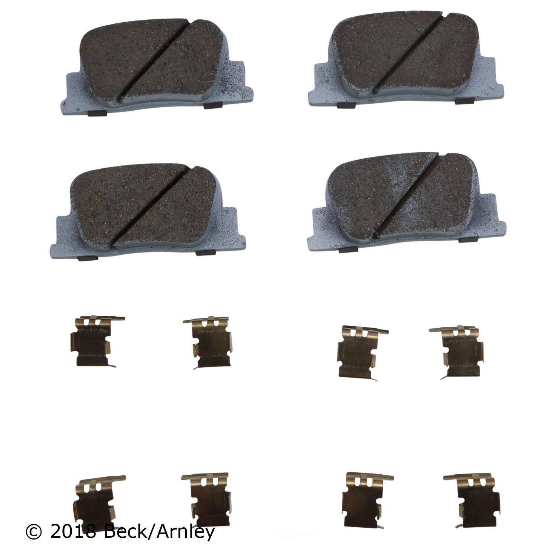 BECK/ARNLEY - Disc Brake Pad and Hardware Kit (Rear) - BAR 085-6670