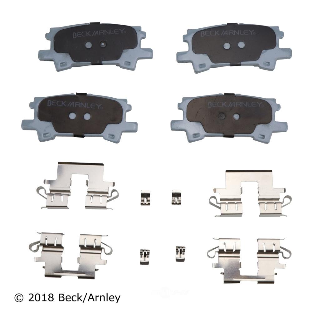 BECK/ARNLEY - Disc Brake Pad and Hardware Kit (Rear) - BAR 085-6741