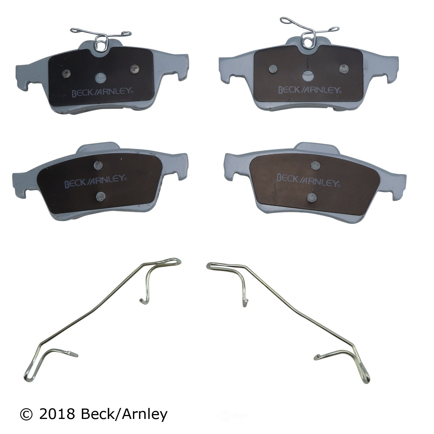 BECK/ARNLEY - Disc Brake Pad and Hardware Kit (Rear) - BAR 085-6753