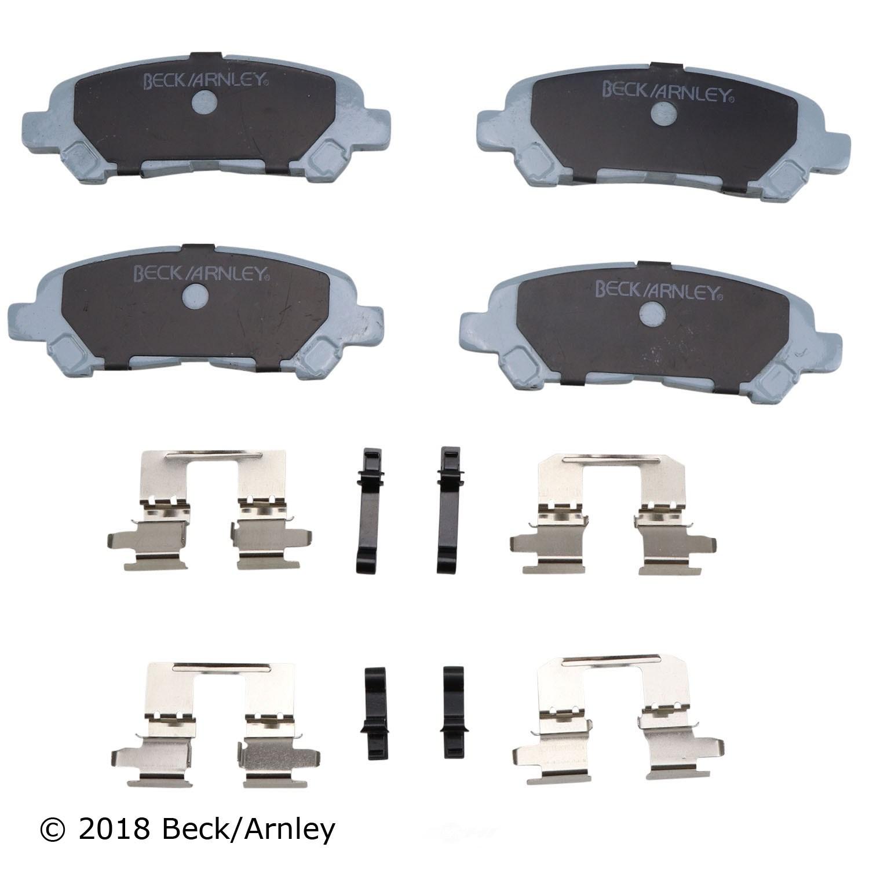BECK/ARNLEY - Disc Brake Pad and Hardware Kit (Rear) - BAR 085-6885