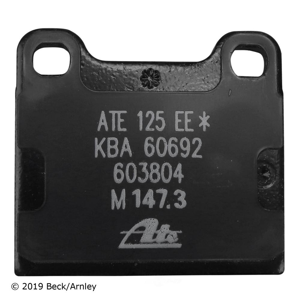 BECK/ARNLEY - Disc Brake Pad (Front) - BAR 089-0407