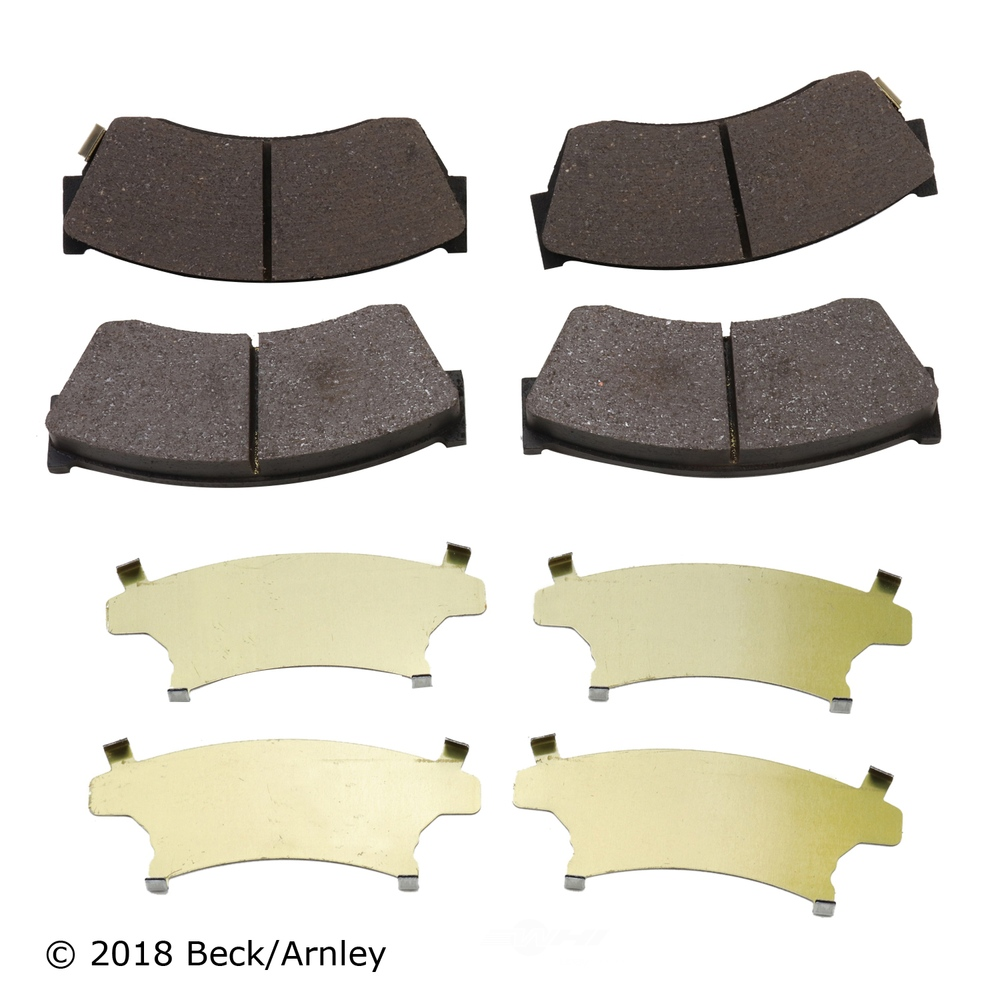 BECK/ARNLEY - Disc Brake Pad (Front) - BAR 089-1397