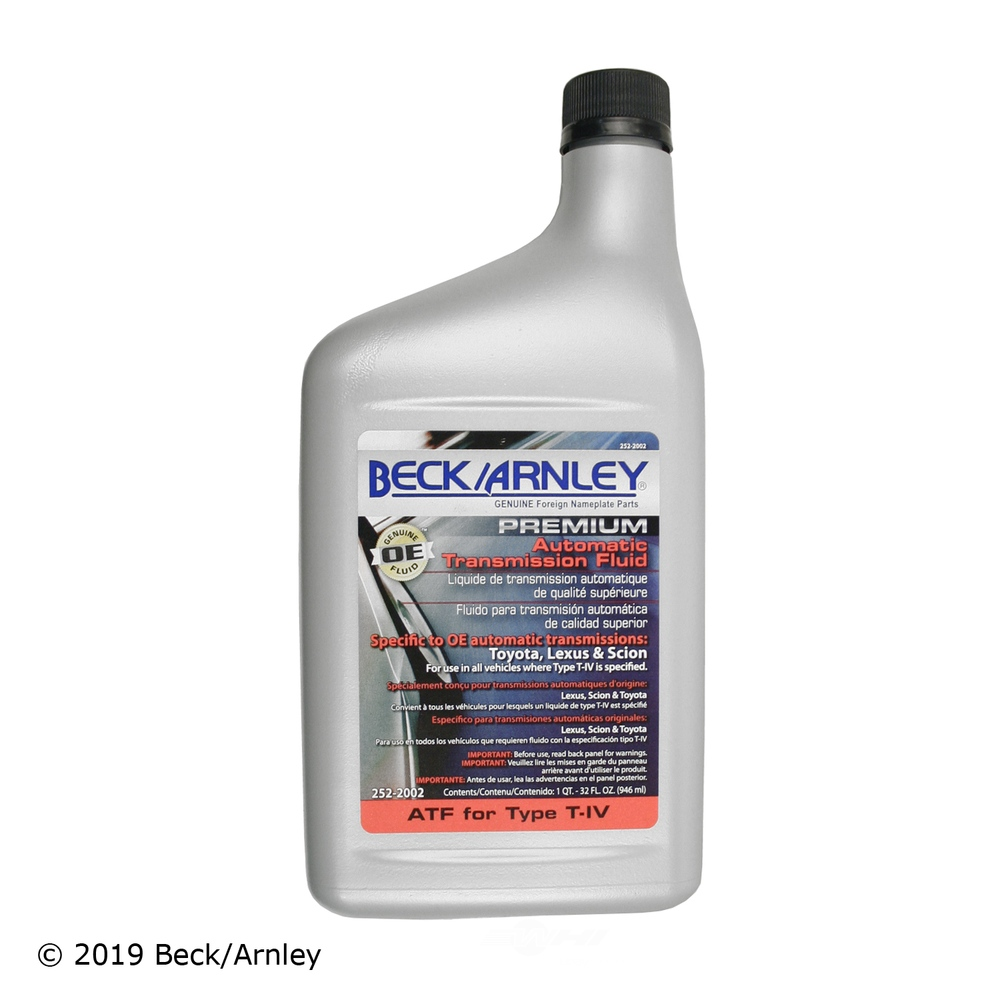 BECK/ARNLEY - Automatic Transmission Fluid - BAR 252-2002