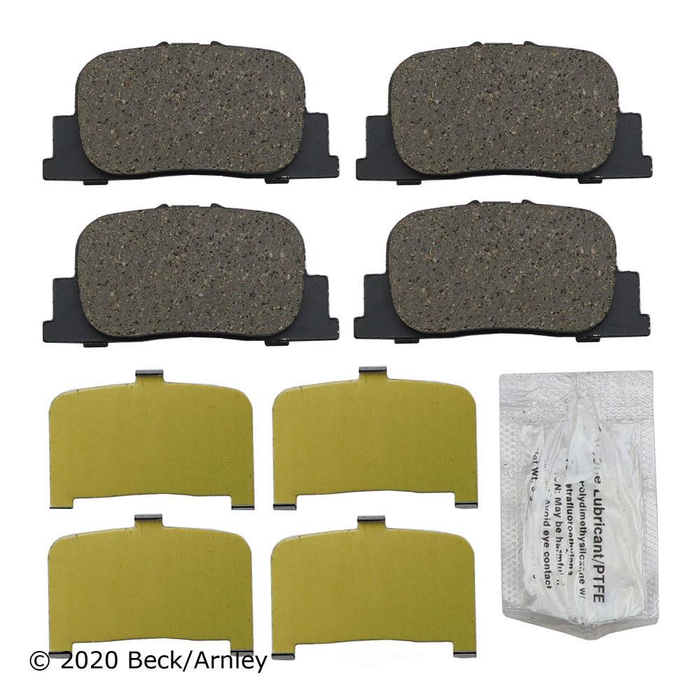 BECK/ARNLEY - Disc Brake Pad (Rear) - BAR 089-1670