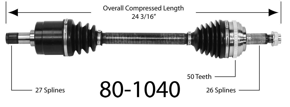 EMPI INC. - CV Joint Half Shaft - BAY 80-1040