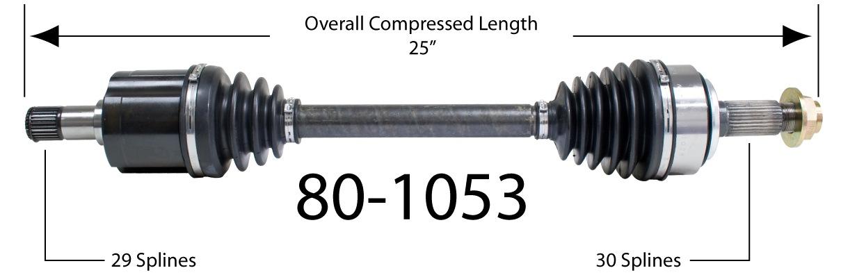 EMPI INC. - CV Joint Half Shaft - BAY 80-1053