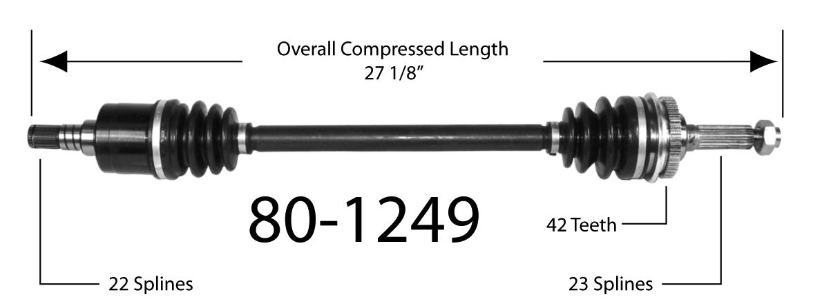EMPIRE - Empire New CV Axle Assembly (Front Left) - BAY 80-1249
