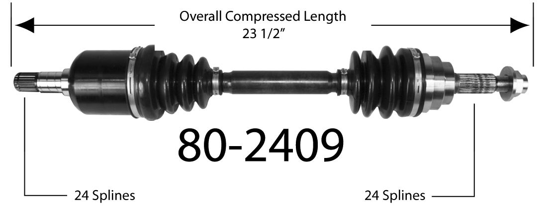 EMPIRE - Empire New CV Axle Assembly (Front Left) - BAY 80-2409
