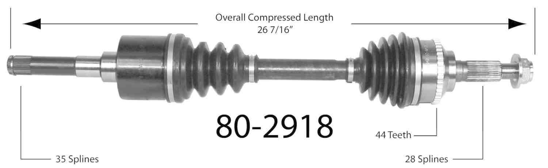 EMPIRE - Empire New CV Axle Assembly - BAY 80-2918