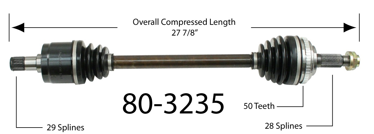 EMPI INC. - CV Joint Half Shaft - BAY 80-3235