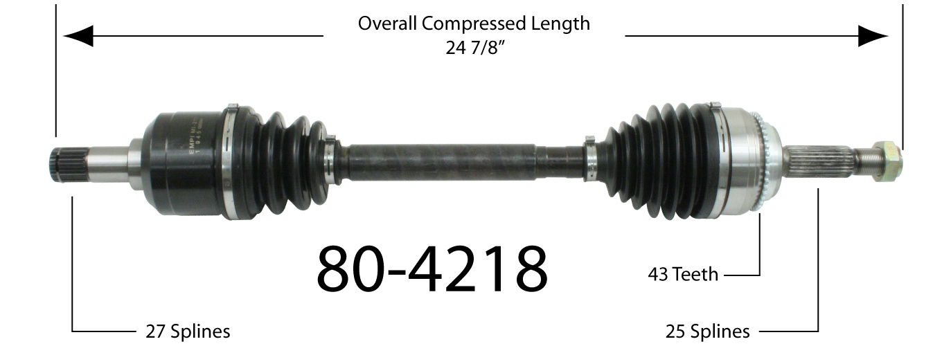 EMPIRE - Empire New CV Axle Assembly (Front Left) - BAY 80-4218