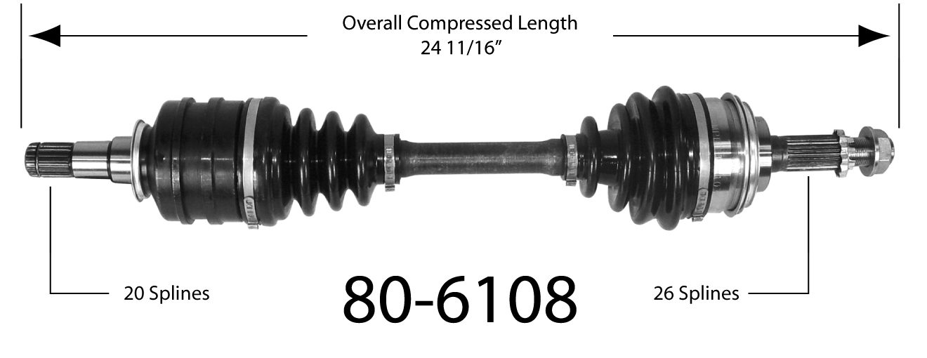 EMPIRE - Empire New CV Axle Assembly (Front Left) - BAY 80-6108