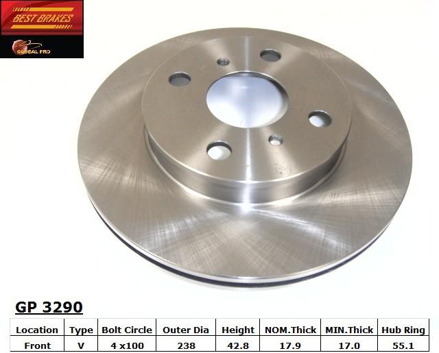 BEST BRAKES USA - Standard Brake Rotor - BBU GP3290