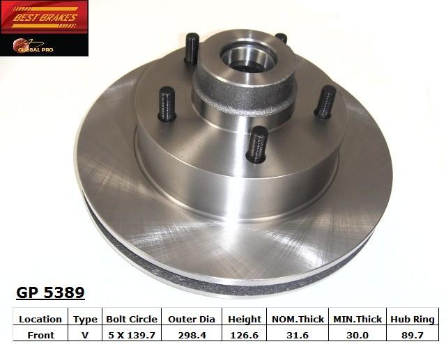 BEST BRAKES USA - Standard Brake Rotor (Front) - BBU GP5389