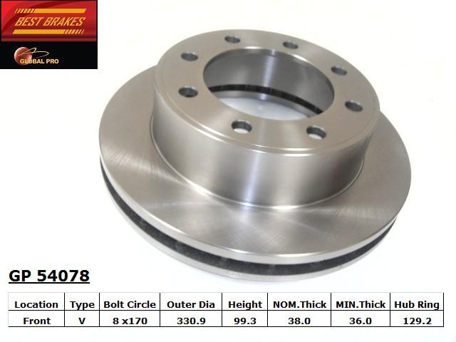 BEST BRAKES USA - Standard Brake Rotor (Front) - BBU GP54078