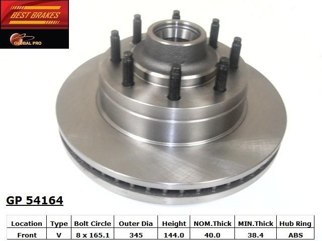 BEST BRAKES USA - Standard Brake Rotor (Front) - BBU GP54164