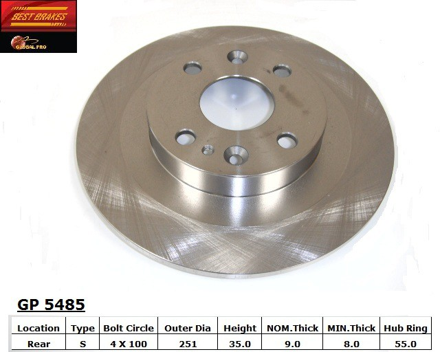 BEST BRAKES USA - Standard Brake Rotor - BBU GP5485