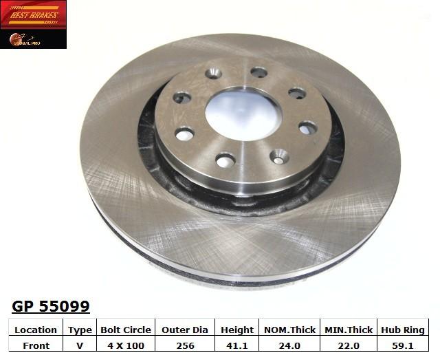 BEST BRAKES USA - Standard Brake Rotor (Front) - BBU GP55099