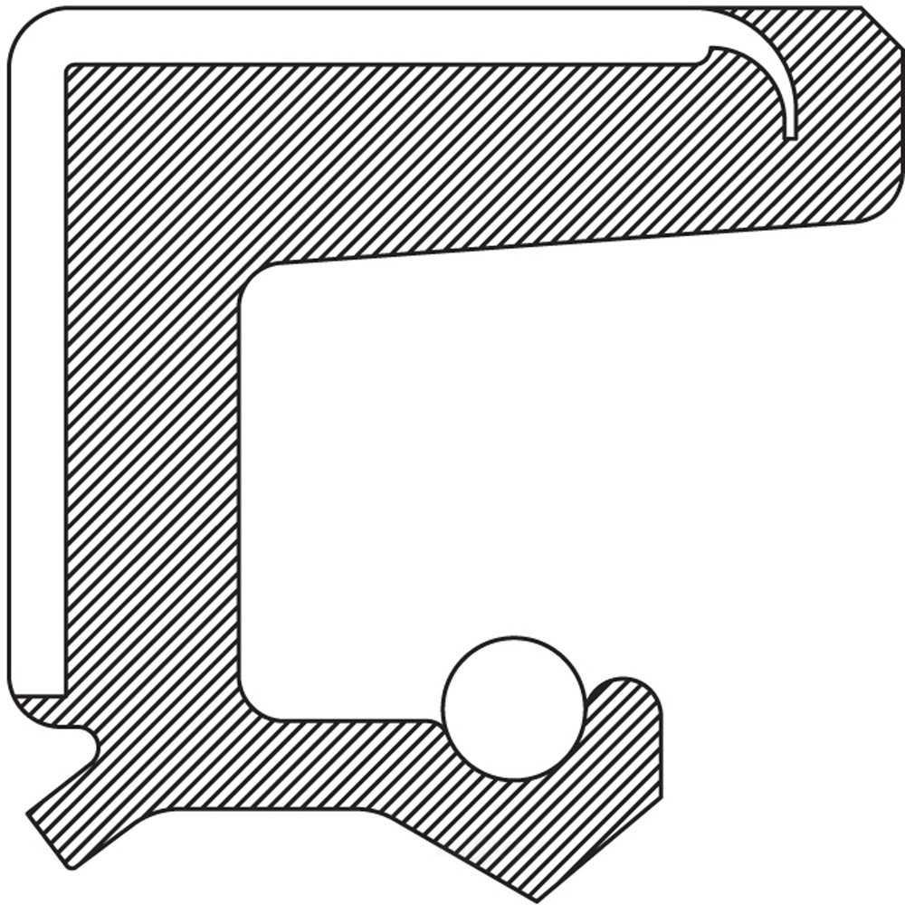 NATIONAL SEAL/BEARING - Steering Gear Worm Shaft Seal - BCA 254270