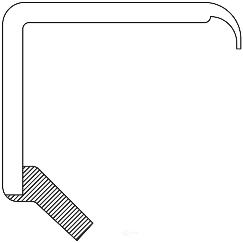 NATIONAL SEAL/BEARING - Steering Gear Worm Shaft Seal - BCA 441130