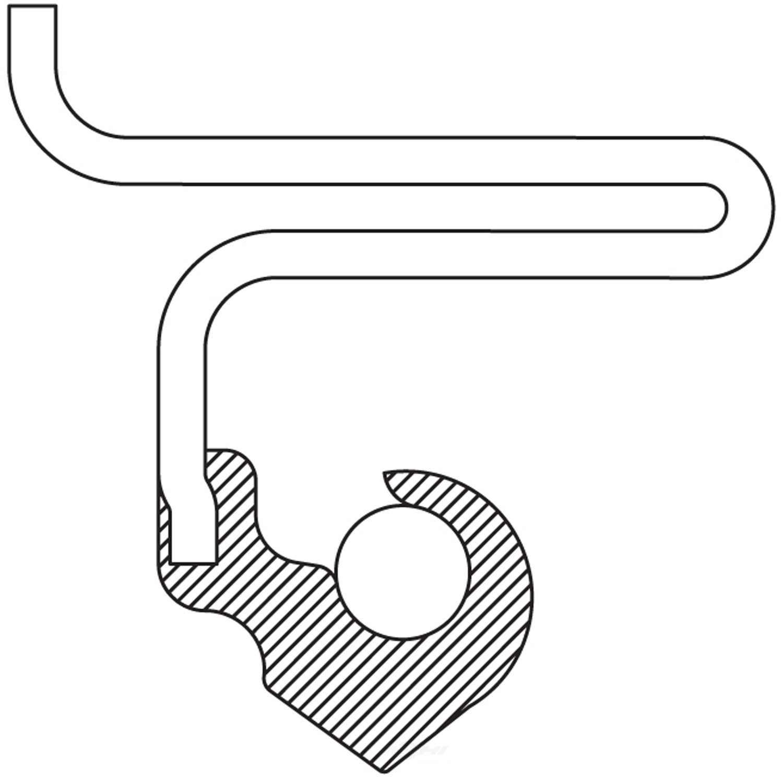 NATIONAL SEAL/BEARING - Automatic Transmission Torque Converter Seal - BCA 4615V