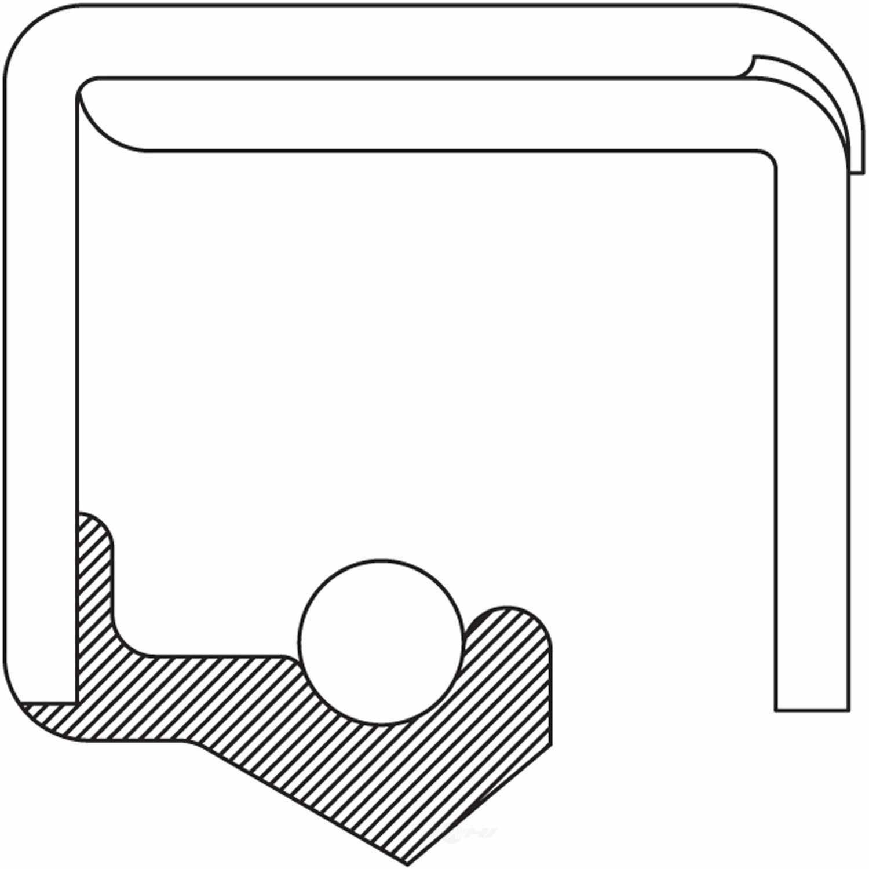 NATIONAL BEARING - Transfer Case Input Shaft Seal - BCB 5872S