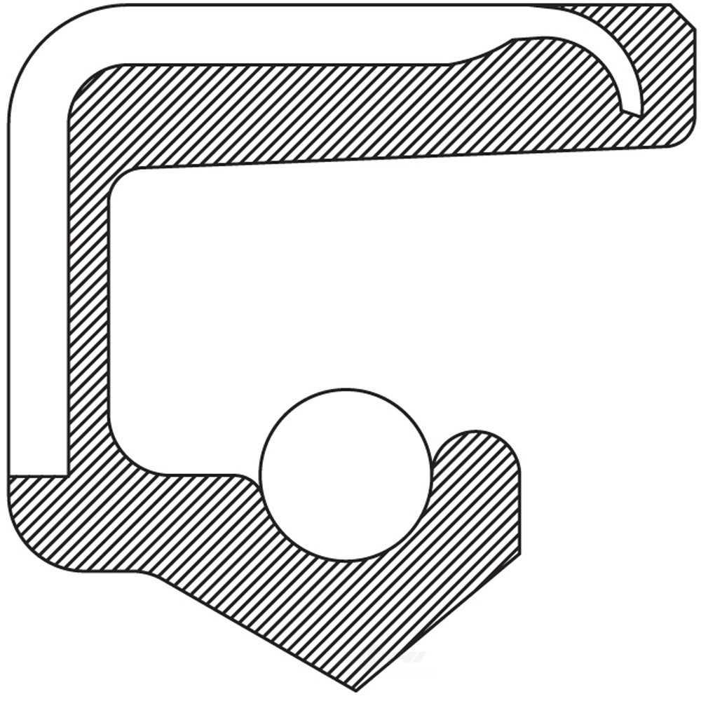 NATIONAL SEAL/BEARING - Power Steering Pump Shaft Seal - BCA 6835S