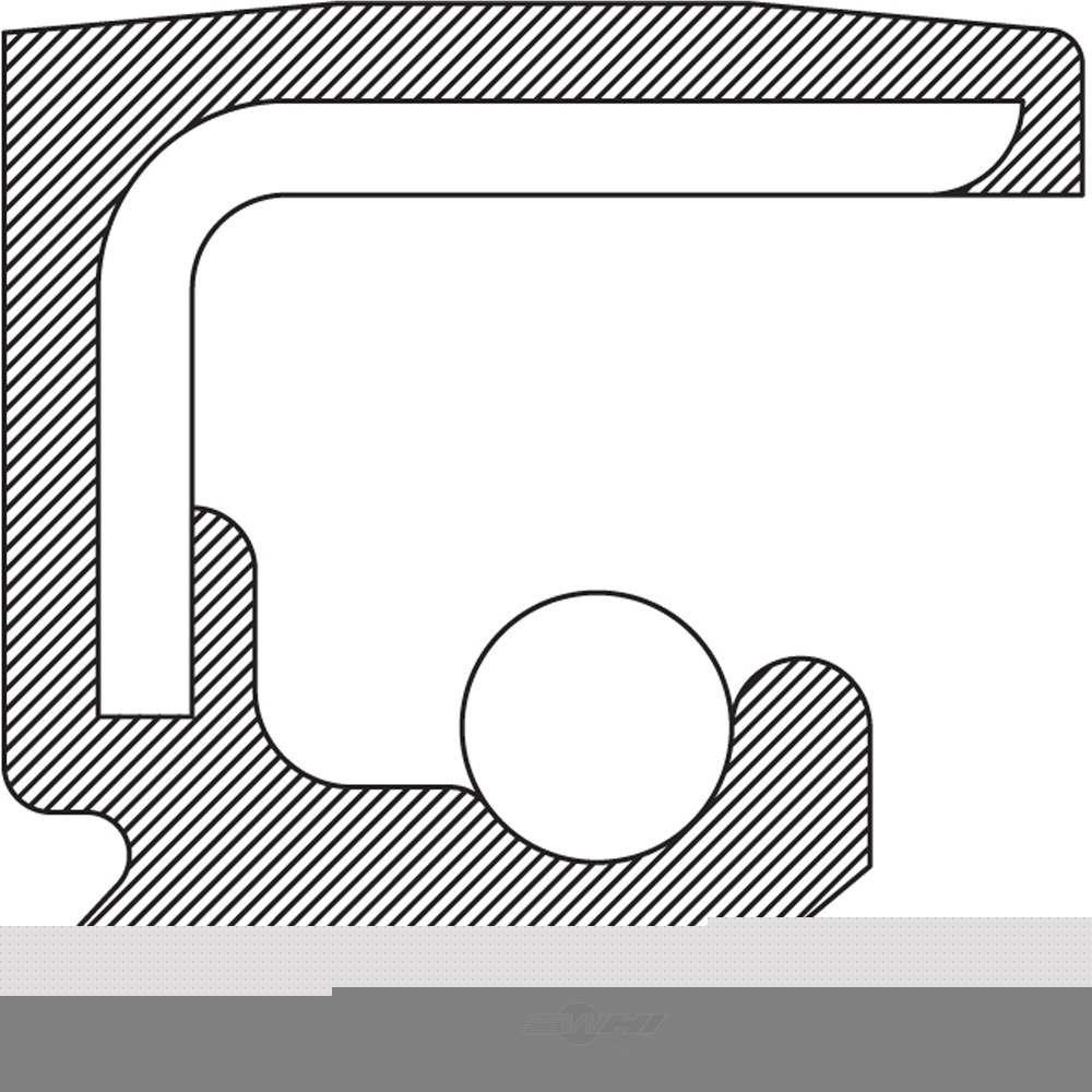 NATIONAL SEAL/BEARING - Steering Gear Worm Shaft Seal (Upper) - BCA 710154