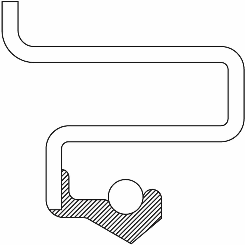 NATIONAL SEAL/BEARING - Automatic Transmission Torque Converter Seal - BCA 710628