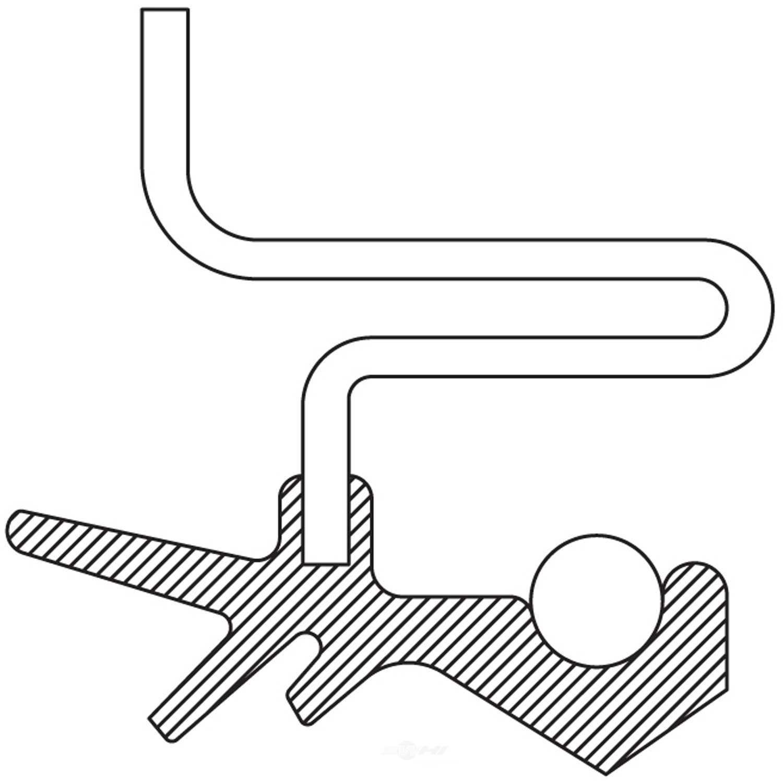 NATIONAL SEAL/BEARING - Transfer Case Output Shaft Seal (Rear) - BCA 710661
