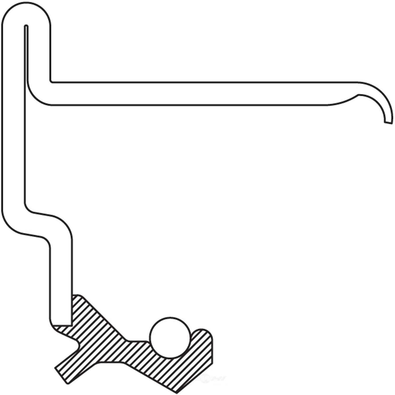 NATIONAL SEAL/BEARING - Automatic Transmission Torque Converter Seal - BCA 710712