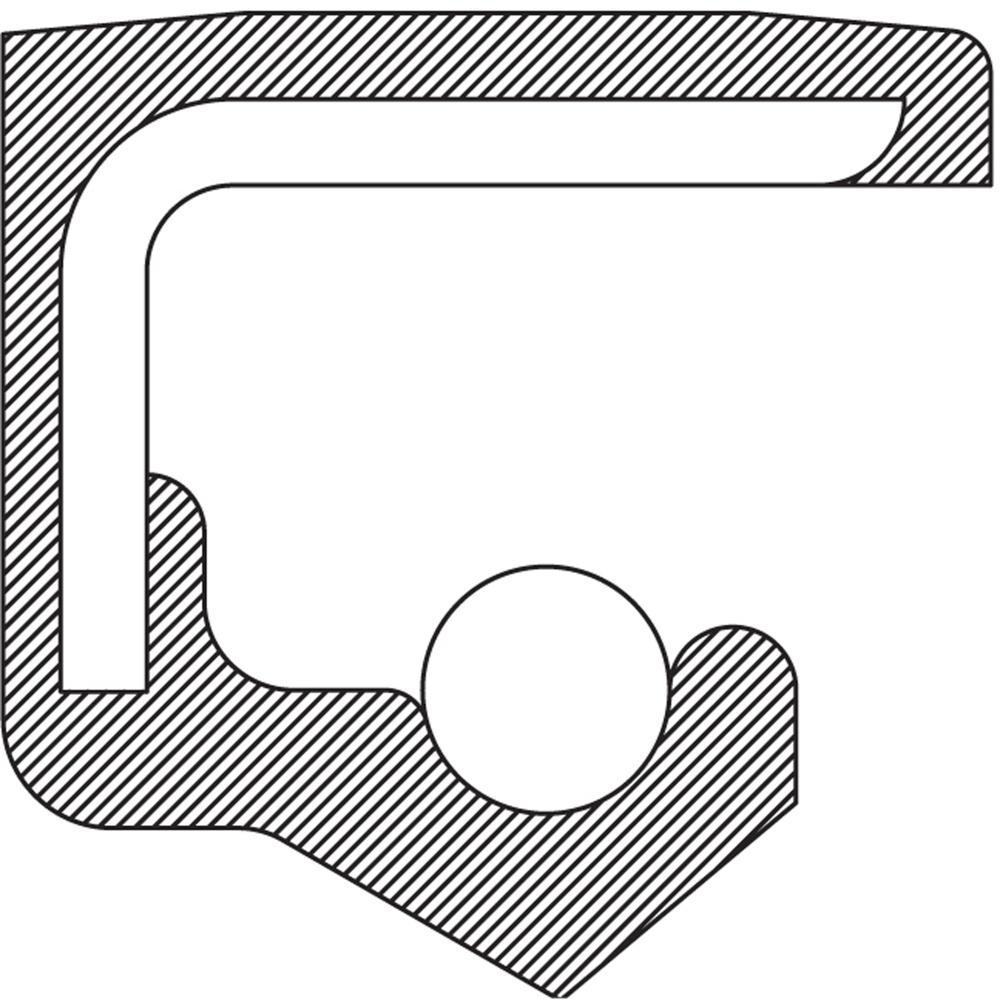 NATIONAL SEAL/BEARING - Steering Gear Worm Shaft Seal - BCA 221730