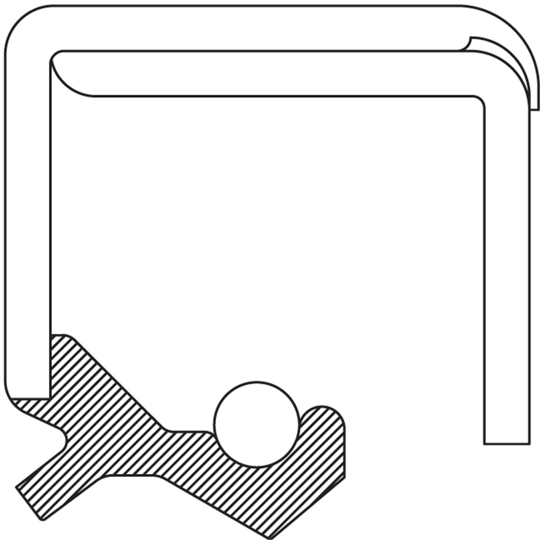NATIONAL SEAL/BEARING - Wheel Seal (Front Inner) - BCA 415960