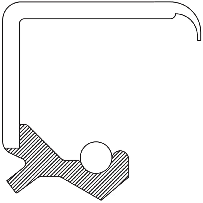 NATIONAL SEAL/BEARING - Steering Gear Worm Shaft Seal - BCA 474134