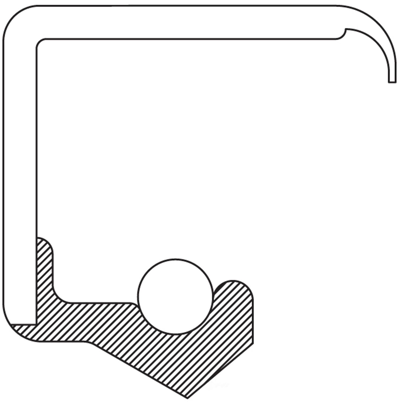NATIONAL SEAL/BEARING - Steering Gear Worm Shaft Seal - BCA 480821