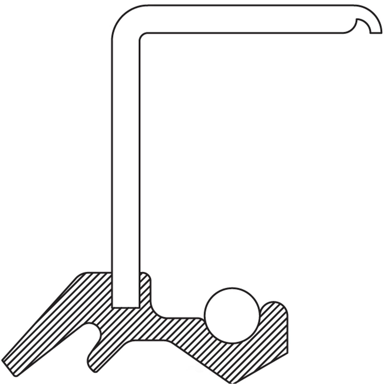NATIONAL SEAL/BEARING - Wheel Seal (Rear Inner) - BCA 4904