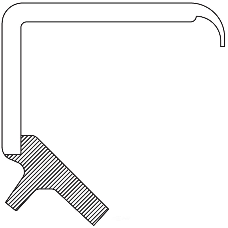 NATIONAL SEAL/BEARING - Engine Crankshaft Seal (Front) - BCA 494122