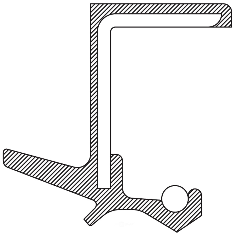 NATIONAL SEAL/BEARING - Auto Trans Output Shaft Seal (Left) - BCA 710109