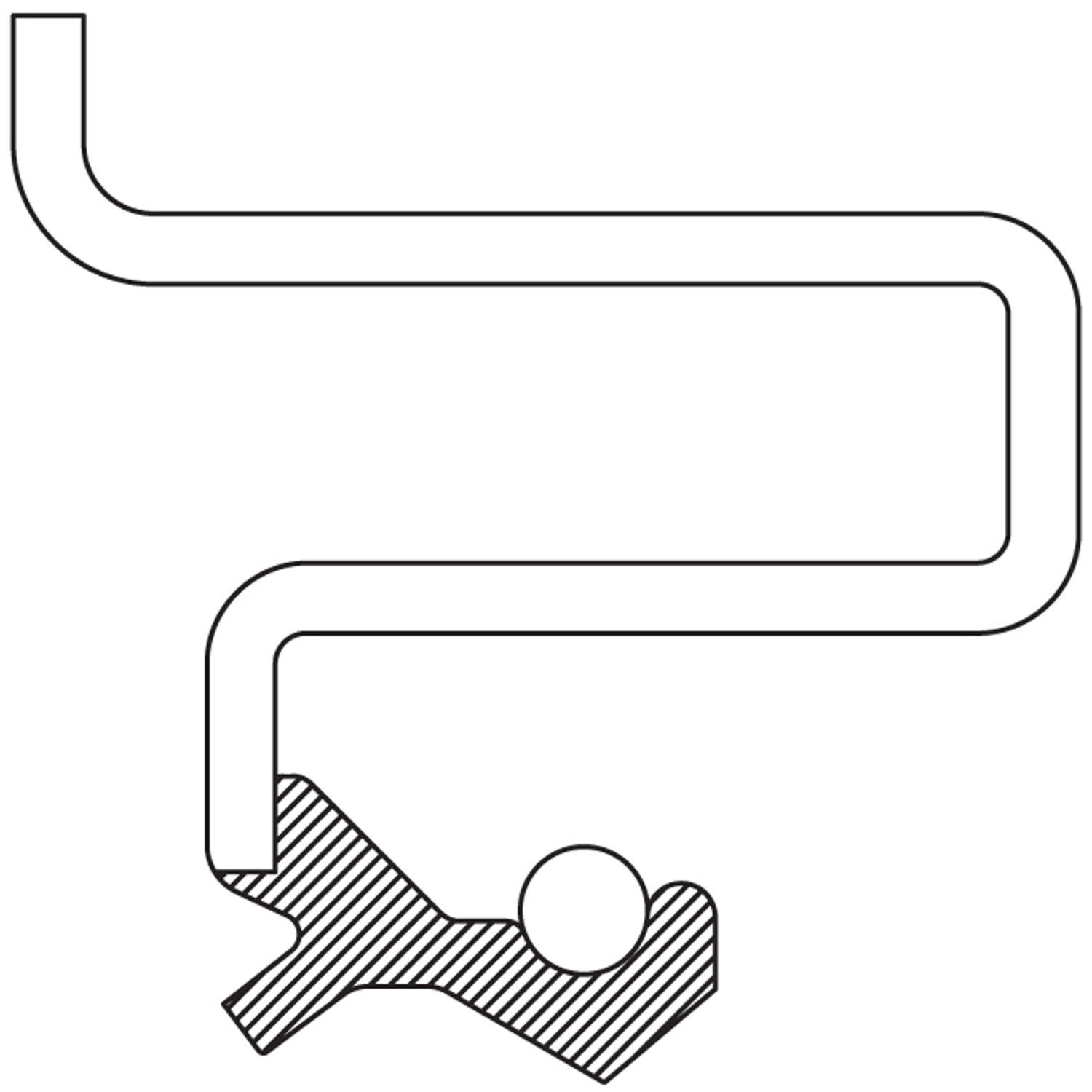 NATIONAL SEAL/BEARING - Axle Output Shaft Seal (Front Left) - BCA 710502