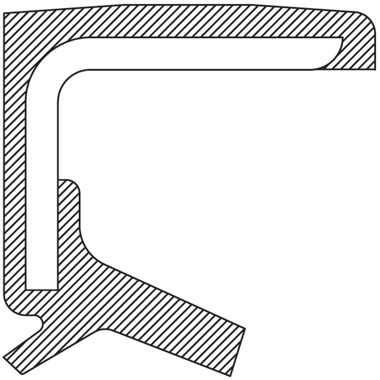 NATIONAL SEAL/BEARING - Auto Trans Manual Shaft Seal - BCA 710544