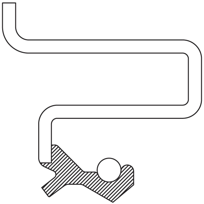 NATIONAL SEAL/BEARING - Wheel Seal (Rear) - BCA 710564