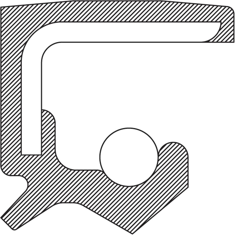 NATIONAL SEALS - Auto Trans Output Shaft Seal (Left) - NAT 710590
