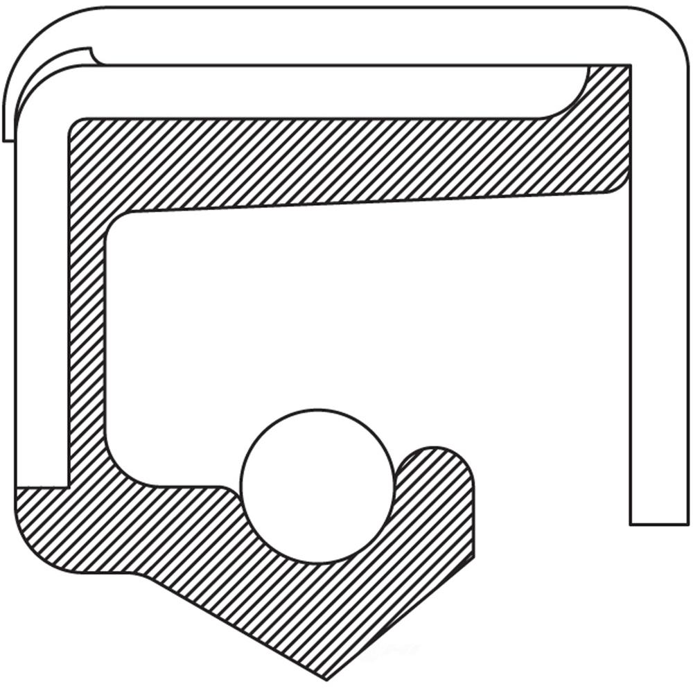 AUTO EXTRA/BEARING-SEALS-HUB ASSEMBLIES - Wheel Seal - AXJ 7834