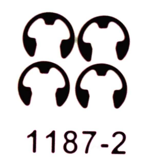 BETTER BRAKE PARTS - Drum Brake Shoe C-Washer (Rear) - BEB 1187