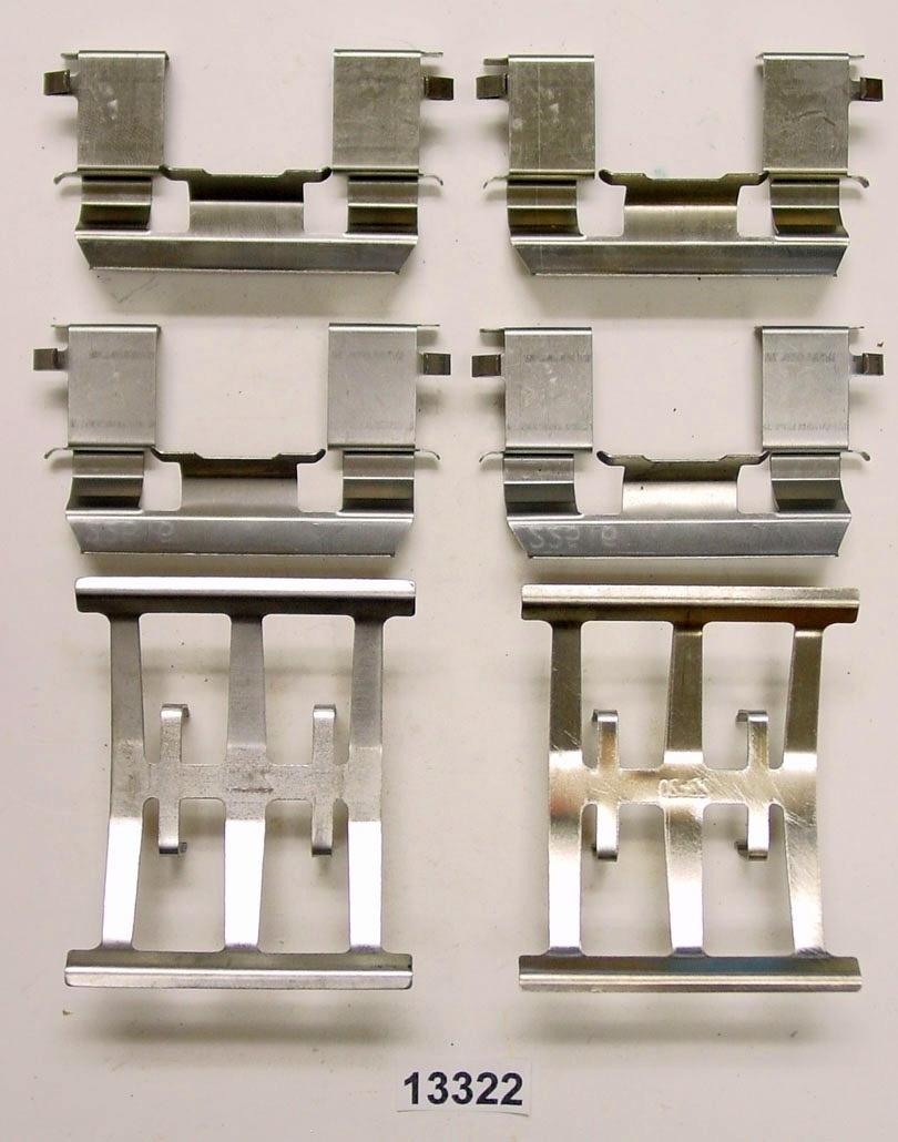 BETTER BRAKE PARTS - Disc Brake Hardware Kit - BEB 13322