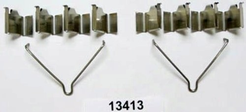 BETTER BRAKE PARTS - Disc Brake Hardware Kit (Rear) - BEB 13413