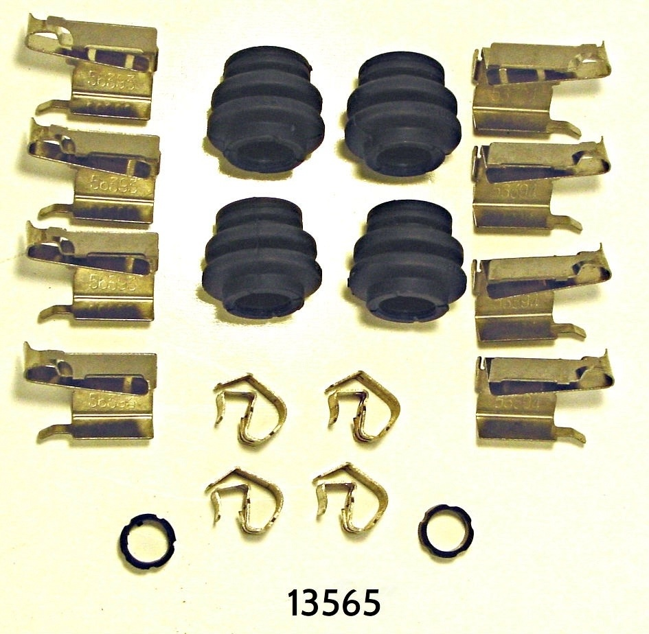 BETTER BRAKE PARTS - Disc Brake Hardware Kit (Front) - BEB 13565