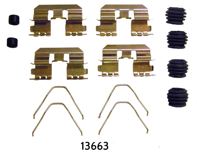 BETTER BRAKE PARTS - Disc Brake Hardware Kit (Rear) - BEB 13663