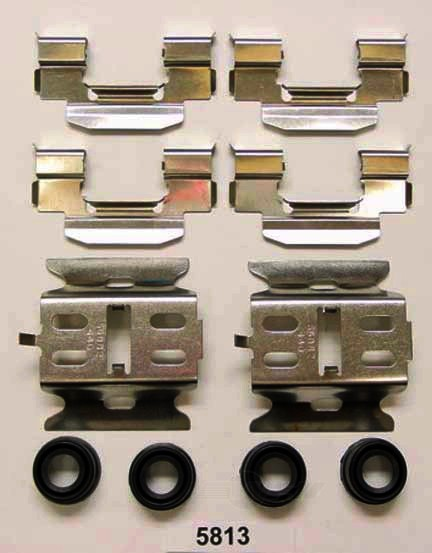 BETTER BRAKE PARTS - Disc Brake Hardware Kit (Rear) - BEB 5813