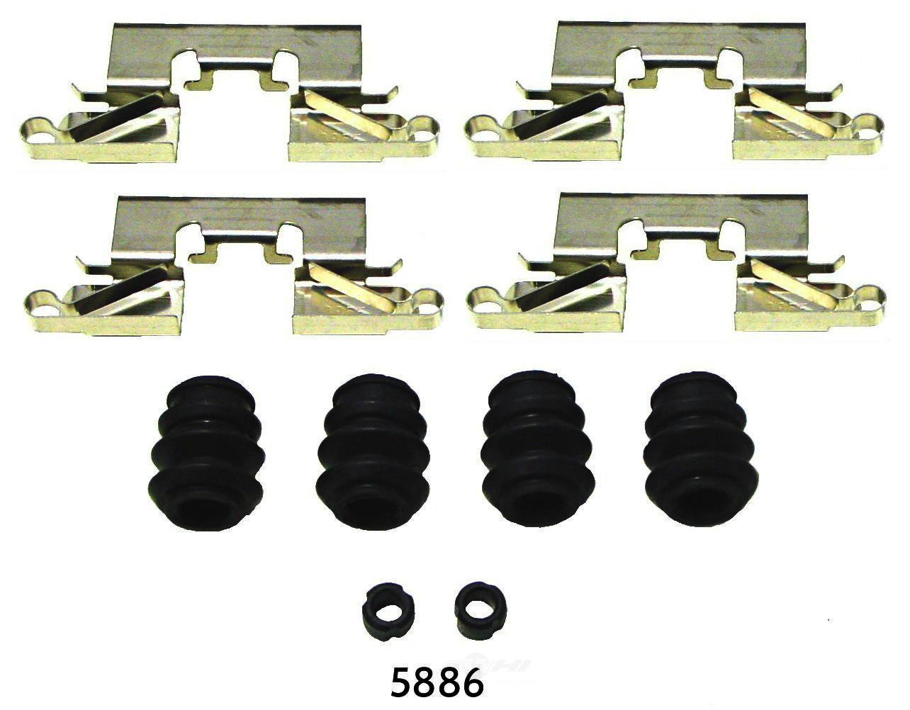 BETTER BRAKE PARTS - Disc Brake Hardware Kit (Rear) - BEB 5886